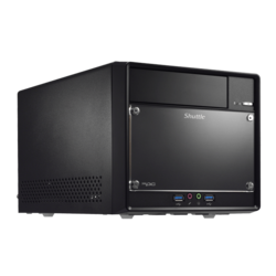 SH110R4 Black Mini PC Barebone, Intel® Core i3 / i5 / i7, Intel® H110, DDR4-2133 DIMM 32GB / 2, SATA / 3, M.2, USB 3.0 / 4, DP, HDMI, VGA, GbLAN, 300W PSU