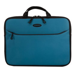 "SlipSuit Sleeve (Teal) 16"", Cushioned EVA, Black-Teal, Bag Carrying Case"