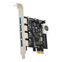 RC-508 USB 3.0 PCI-E Express Card with 4 USB 3.0 Ports, Speed Up to 5.0 Gbps