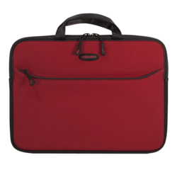 "SlipSuit Sleeve (Crimson Red) 16"", Cushioned EVA, Black-Red, Bag Carrying Case"