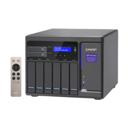 TVS-882 8-bay NAS Server, Intel® Core™ i5-6500 3.6GHz, 64GB DDR4 RAM (16GB pre-installed), SATA 6Gb/s, M.2 / 2, HDMI / 3, GbLAN / 4, USB 3.0 / 5, 250W PSU