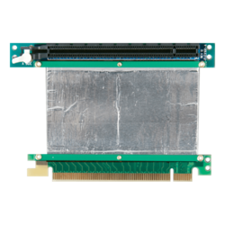 DD-766R-C5-02, PCIe x16 to PCIe x16 Reversed Riser Card with 5cm Ribbon Cable