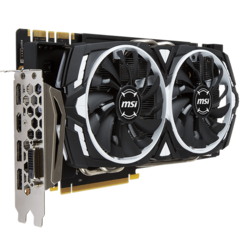 GeForce GTX 1070 ARMOR 8G OC, 1556 - 1746MHz, 8GB GDDR5, Graphics Card