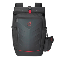 "ROG Ranger 17"", Ballistic nylon, Rubber, Black-Red, Backpack Carrying Case"