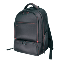 "Professional 17"", Ballistic Nylon, Black-Red, Backpack Carrying Case"