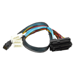 areca CB-4382P-75 SFF-8643 Internal HD MiniSAS to SFF-8482 Internal SAS + Power (4-Pin) Cable
