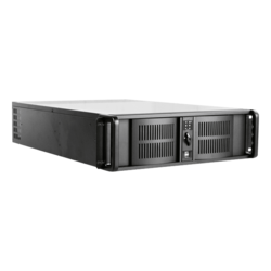 "D Storm D-300L-75S2UP8G, 4x 5.25"" and 3x 3.5"" Drive Bays, 750W Rdt PSU, E-ATX, Black, 3U Chassis"