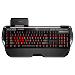 KM780 Series RIPJAWS KM780 MX, Red LED Illumination, Cherry MX Red Switch, 6 Macro Keys, 12 Function Keys, Wired USB, Black, Retail Mechanical Gaming Keyboard