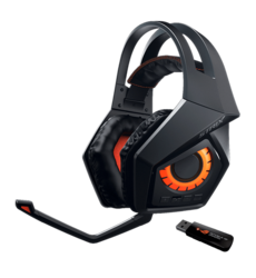 ROG Strix, 7.1 Virtual Surround Sound, Wireless USB, Black, Gaming Headset