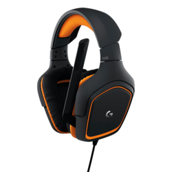 G231 Prodigy, Stereo Sound, 3.5mm, Black-Orange, Gaming Headset