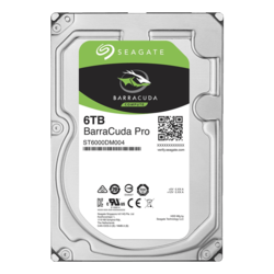 6TB BarraCuda Pro ST6000DM004, 7200 RPM, SATA 6Gb/s, 512E, 256MB cache, 3.5-Inch HDD