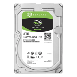 8TB BarraCuda Pro ST8000DM005, 7200 RPM, SATA 6Gb/s, 512E, 256MB cache, 3.5-Inch HDD