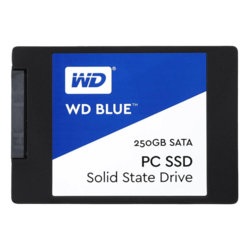 250GB WD Blue WDS250G1B0A 7mm, 540 / 500 MB/s, TLC, SATA 6Gb/s, 2.5-Inch Retail SSD