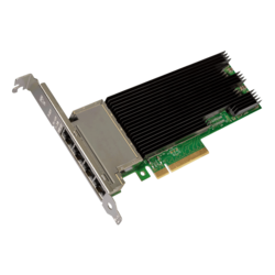 10Gbps Ethernet Converged Network Adapter, X710-T4, (4x RJ45)