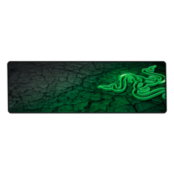 Goliathus Control Fissure Edition (Extended), Anti-slip rubber base, Black-Green, Retail Gaming Mouse Mat