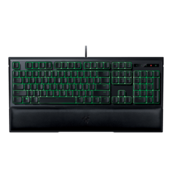 Ornata, Customizable Green Lighting, Fully Programmable Keys, Wired USB, Black, Retail Mecha-Membrane Gaming Keyboard