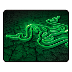 Goliathus Control Fissure Edition (Large), Anti-slip rubber base, Black-Green, Retail Gaming Mouse Mat