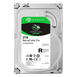 2TB BarraCuda Pro ST2000DM009, 7200 RPM, SATA 6Gb/s, 512N, 128MB cache, 3.5-Inch HDD