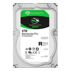 4TB BarraCuda Pro ST4000DM006, 7200 RPM, SATA 6Gb/s, 512E, 128MB cache, 3.5-Inch HDD