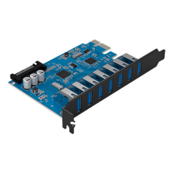PVU3-7U 7 Ports USB 3.0 PCI Express Card