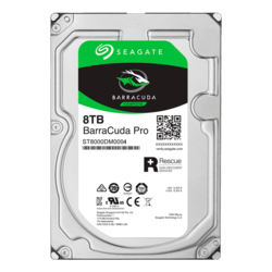 8TB BarraCuda Pro ST8000DM0004, 7200 RPM, SATA 6Gb/s, 512e, 256MB cache, 3.5-Inch HDD