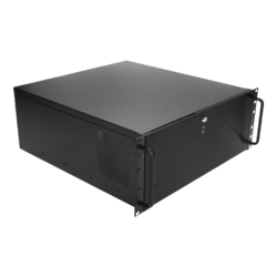"DN-400, 4x 5.25"" and 6x 3.5"" Drive Bays, No PSU, ATX, Black, 4U Chassis"