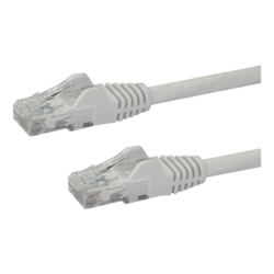 N6PATCH4WH 4ft Cat6 Ethernet Patch Cable with Snagless RJ45 White