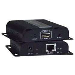Low-Cost HDMI Over Gigabit IP Extender with IR and Power over Ethernet (POE), Remote
