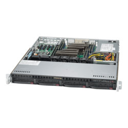 Supermicro Case CSE-813MFTQC-350CB2 1U 4x3.5 inch HotSwap SAS/SATA 350 Watts Brown Box