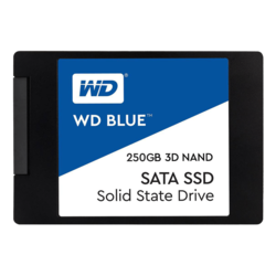 250GB WD Blue 7mm, 550 / 525 MB/s, 3D NAND, SATA 6Gb/s, 2.5-Inch Retail SSD