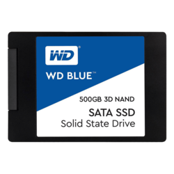 500GB WD Blue 7mm, 560 / 530 MB/s, 3D NAND, SATA 6Gb/s, 2.5-Inch Retail SSD