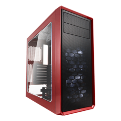 Focus Series G Mystic Red w/ Window, No PSU, ATX, Mid Tower Case