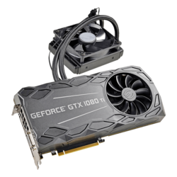 GeForce GTX 1080 Ti FTW3 HYBRID GAMING, 1569 - 1683MHz, 11GB GDDR5X, Graphics Card