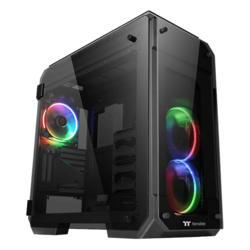 View Series 71 RGB Tempered Glass, No PSU, E-ATX, Black, Full Tower Case