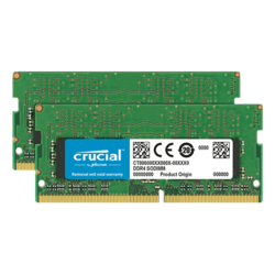 16GB Kit (2 x 8GB) DDR4 2666MHz, CL19, SO-DIMM Memory