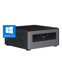 "NUC7i5BNHXF, Intel Core i5-7260U, 2x DDR4 SO-DIMM (4GB pre-installed), M.2 (16GB Intel® Optane™ Memory M.2 module pre-installed), 2.5"" HDD/SSD (1TB HDD pre-installed), Intel Iris Plus Graphics 640, Mini PC Barebone"