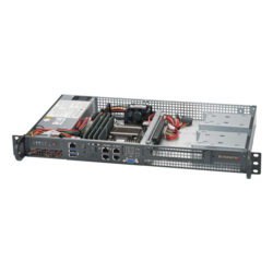 1U Rack Server - Supermicro SuperServer 5019A-FTN4 Intel® Atom® C3758 SATA 1U Rackmount Server Computer
