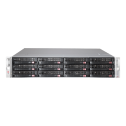 SuperServer 5029P-E1CTR12L, 2U, Intel C622, 12x SATA/SAS, 8x DDR4, Broadcom 3008 AOC, Dual 10Gb Ethernet, 800W Rdt PSU