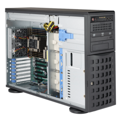 SuperServer 7049P-TRT, 4U Rackmount/Tower, Intel C622, 8x SATA, 16x DDR4, Dual 10Gb Ethernet, 1280W Rdt PSU