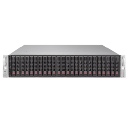 SuperServer 2029P-ACR24L, 2U, Intel C624, 24x SATA/SAS, 16x DDR4, Dual 10Gb Ethernet, 1200W Rdt PSU