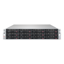 SuperServer 6029P-E1CR16T, 2U, Intel C624, 16x SATA/SAS, 16x DDR4, Broadcom 3108 AOC, Dual 10Gb Ethernet, 1600W Rdt PSU