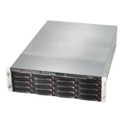 SuperServer 6039P-E1CR16H, 3U, Intel C624, 16x SATA/SAS, 16x DDR4, Broadcom 3108 AOC, Dual 10Gb Ethernet, 1200W Rdt PSU
