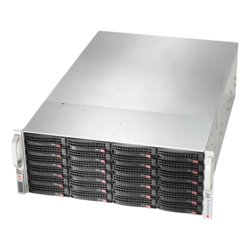 SuperServer 6049P-E1CR24H, 4U, Intel C624, 24x SATA/SAS, 16x DDR4, Broadcom 3108 AOC, Dual 10Gb Ethernet, 1200W Rdt PSU