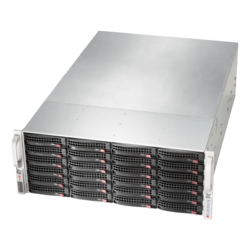 SuperServer 6049P-E1CR24L, 4U, Intel C624, 24x SATA/SAS, 16x DDR4, Broadcom 3008 AOC, Dual 10Gb Ethernet, 1200W Rdt PSU