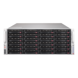 SuperServer 6049P-E1CR36L, 4U, Intel C624, 36x SATA/SAS, 16x DDR4, Broadcom 3008 AOC, Dual 10Gb Ethernet, 1200W Rdt PSU