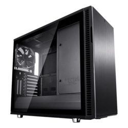 Define Series R6 Blackout Tempered Glass, No PSU, E-ATX, Black, Mid Tower Case