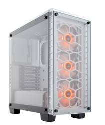 Crystal Series 460X RGB Compact, Tempered Glass, No PSU, ATX, White, Mid Tower Case