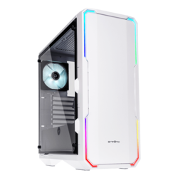 Enso Tempered Glass, No PSU, ATX, White, Mid Tower Case