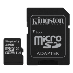 32GB Canvas Select UHS-I microSDHC Memory Card with SD Adapter