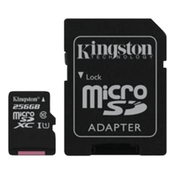 256GB Canvas Select UHS-I microSDXC Memory Card with SD Adapter